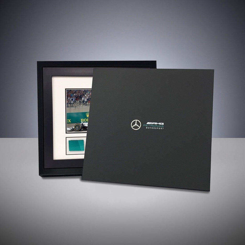 Mercedes Benz AMG F1 Michael Schumacher 2011 Photo with Piece of Car Bodywork