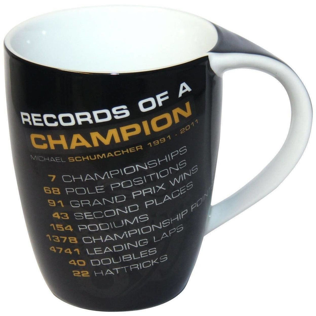 "Michael Schumacher Authentic ""Records of a Champion"" Mug"