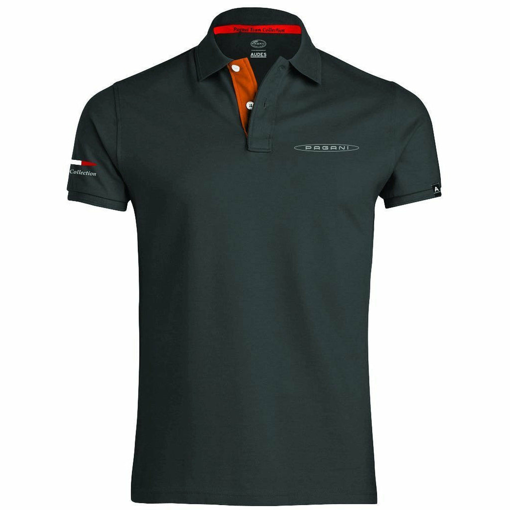 Pagani Automobili Men's Polo Dark Grey