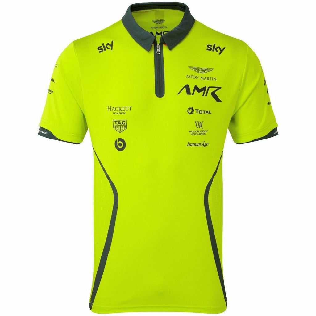 Aston Martin Racing 2020 Men's Team Polo Shirt Lime Green