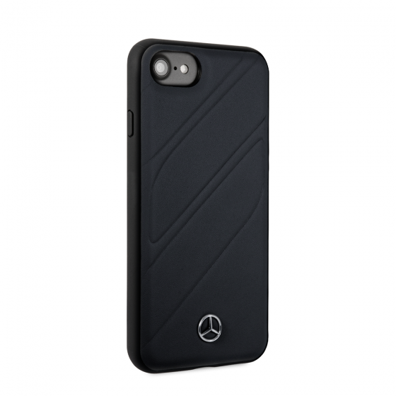 MERCEDES BENZ NAVY LEATHER NEW ORGANIC I PHONE CASE