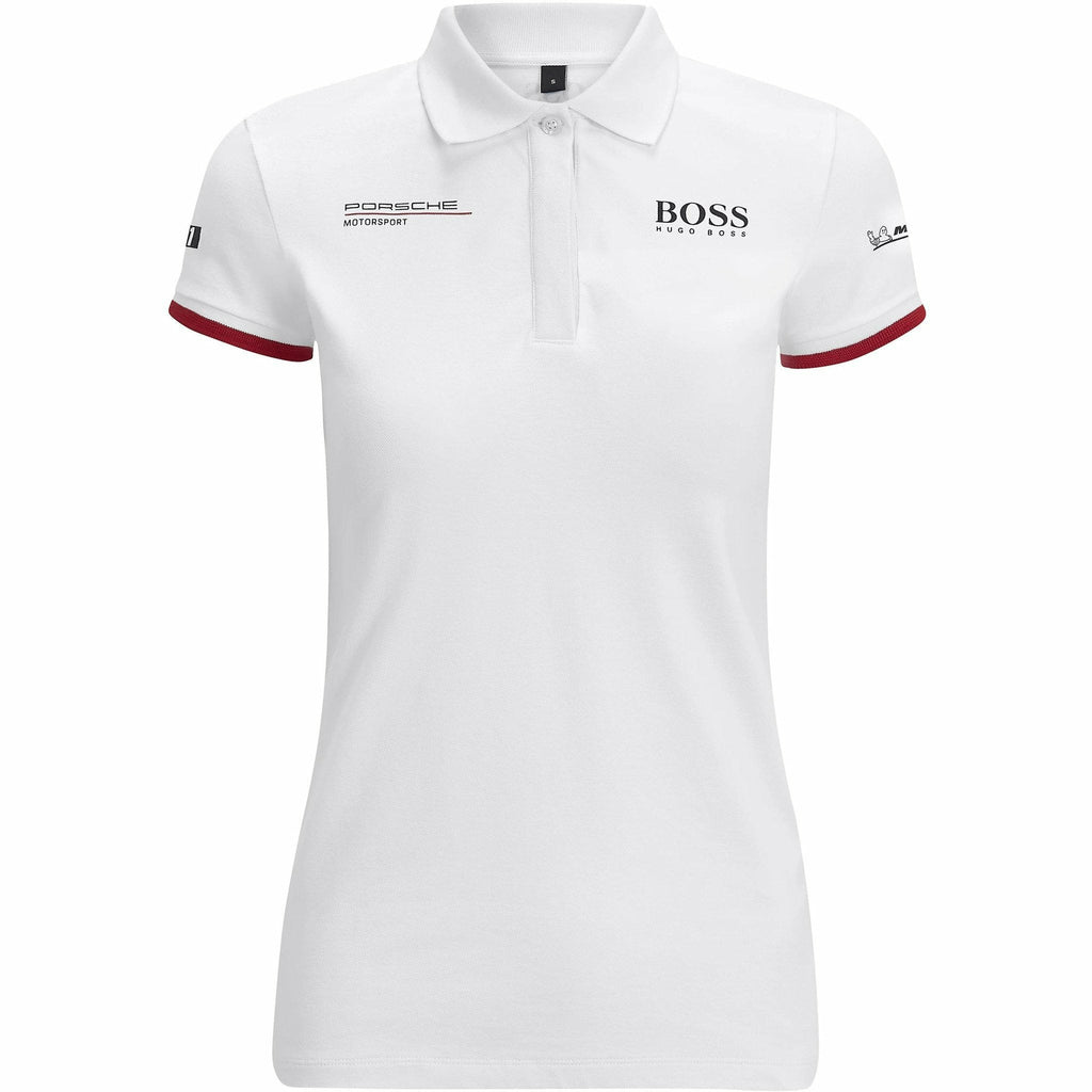 Porsche Motorsport Women's White Team Polo w/Motorsport Kit