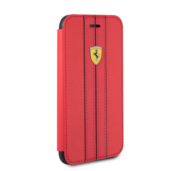 FERRARI GENUINE RED LEATHER URBAN BOOKSTYLE CASE