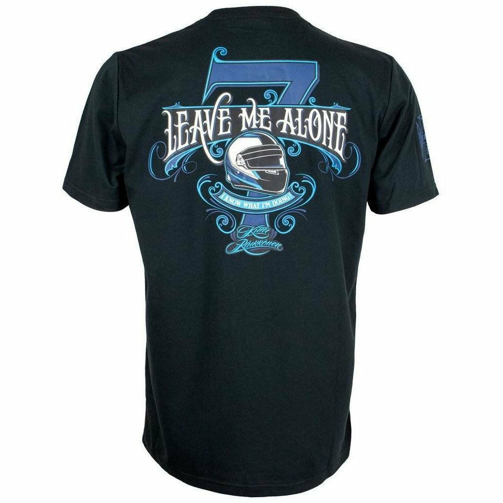 "Kimi Räikkönen West Coast Choppers Men's Black T-Shirt ""Leave Me Alone"""