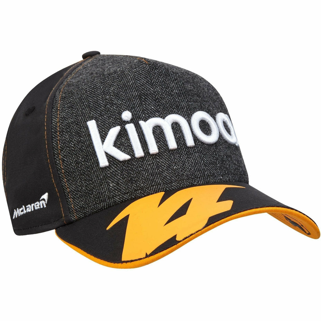 McLaren Official 2018 Fernando Alonso Kimoa Trucker Cap by New Era - Anthracite