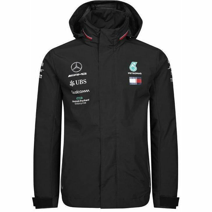 Mercedes-AMG Petronas Motorsport 2019 F1 Team Rain Jacket Black