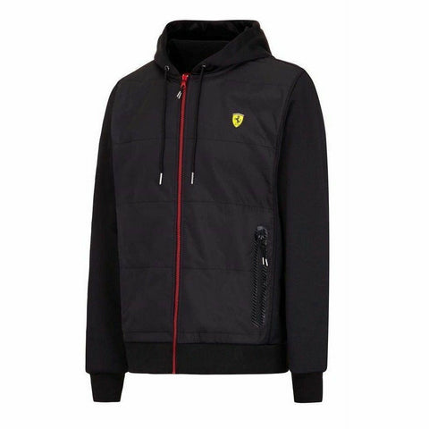 Ferrari Formula 1 Men's Black Fleece Lined Hooded Jacket