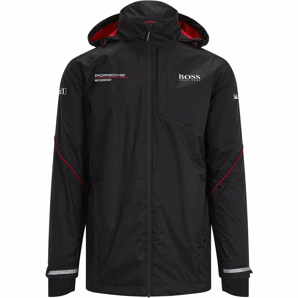 Porsche Motorsport Team Black Rain Jacket w/Motorsport Kit