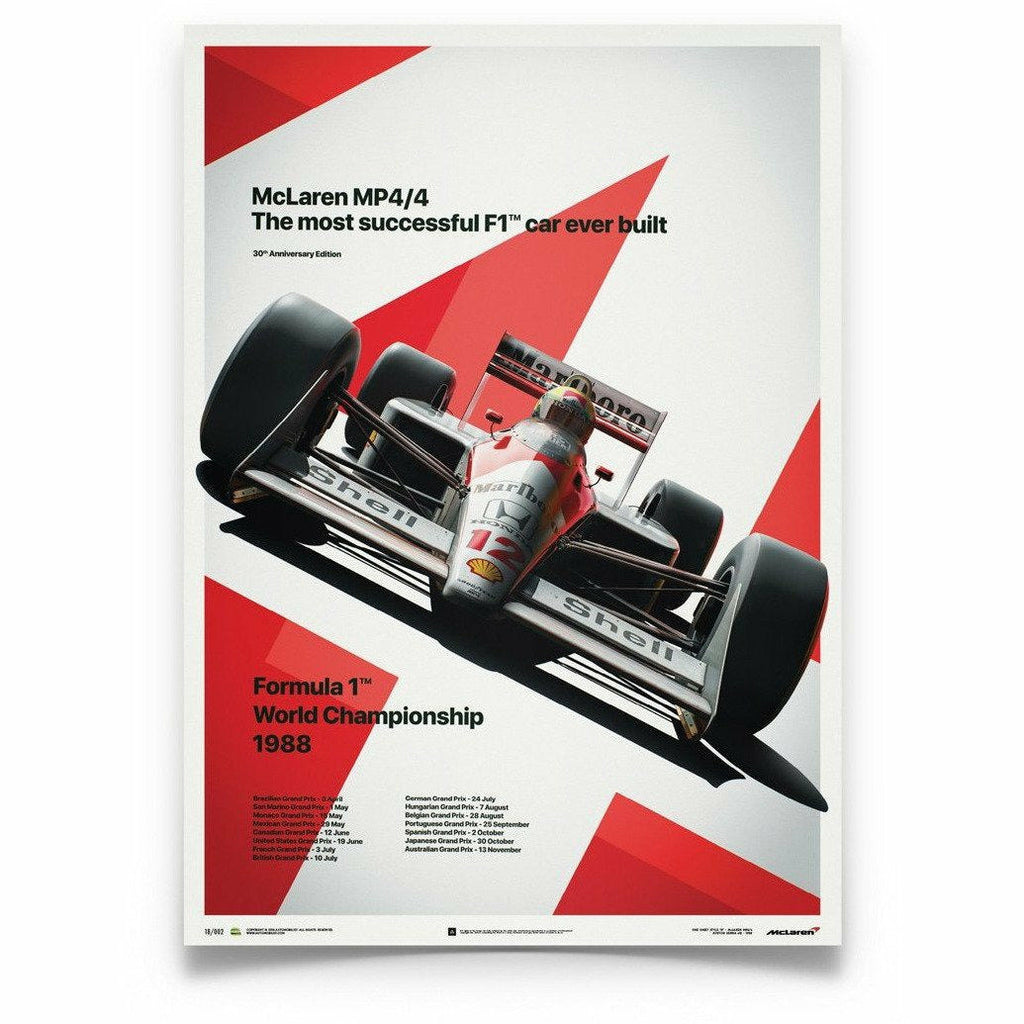 McLaren MP4/4 Ayrton Senna MP4/4 Poster