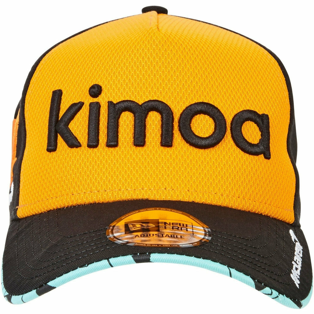 McLaren Official  Fernando Alonso Kimoa Trucker Cap by New Era - Papaya