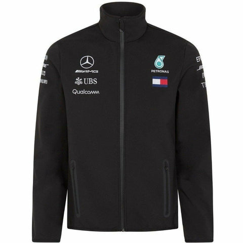 Mercedes Benz AMG Petronas Formula 1 Men's Black 2018 Softshell Jacket