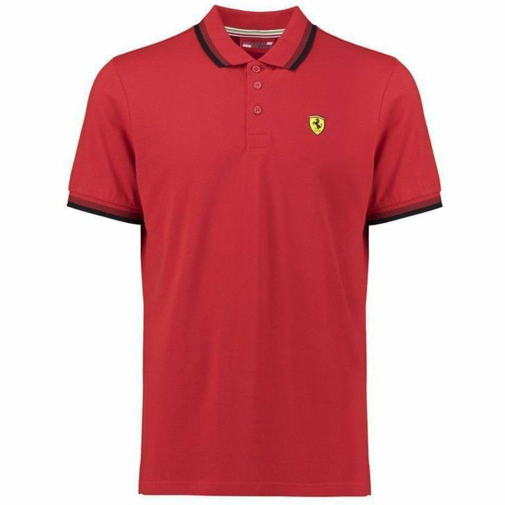 Scuderia Ferrari Men's Formula 1 2018 Authentic Men's Red Contrast Collar Polo