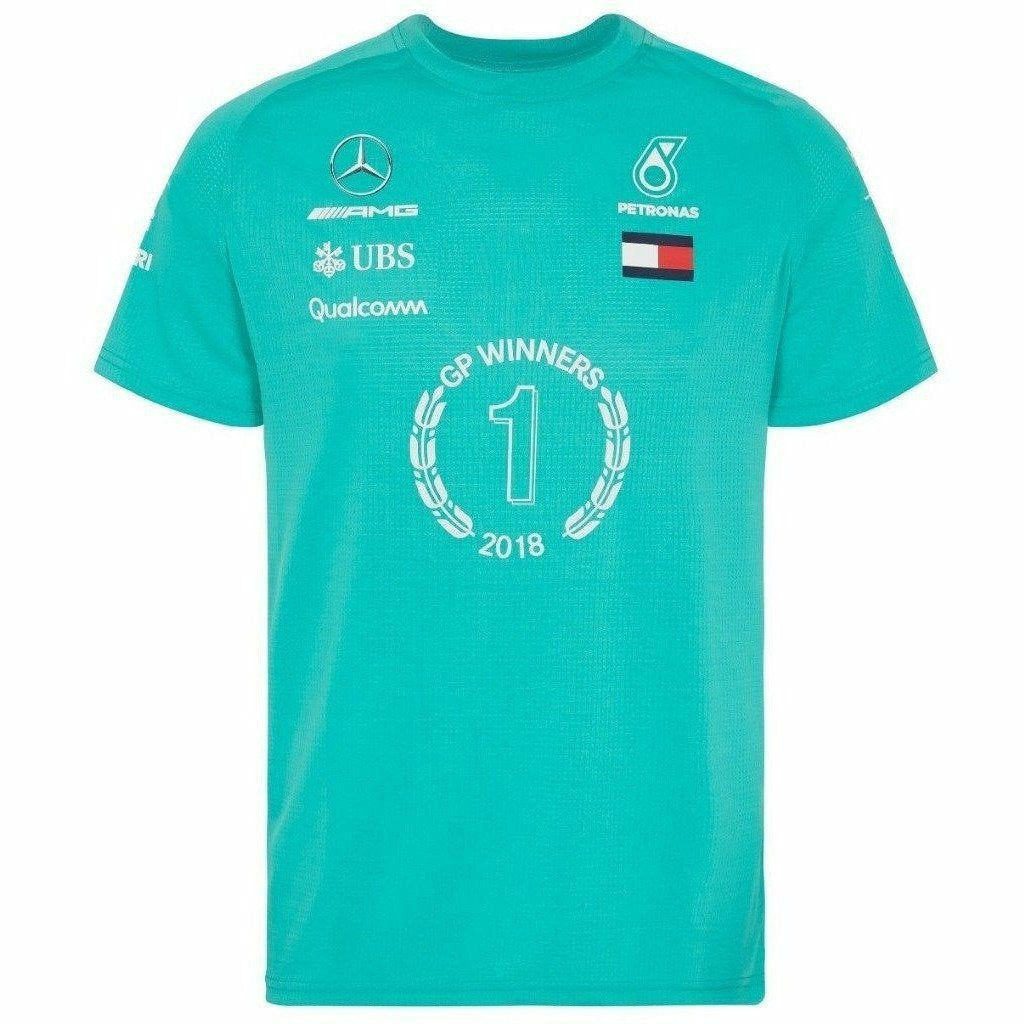 Mercedes Benz AMG Formula 1 Petronas Green 2018 Drivers Winner T-Shirt