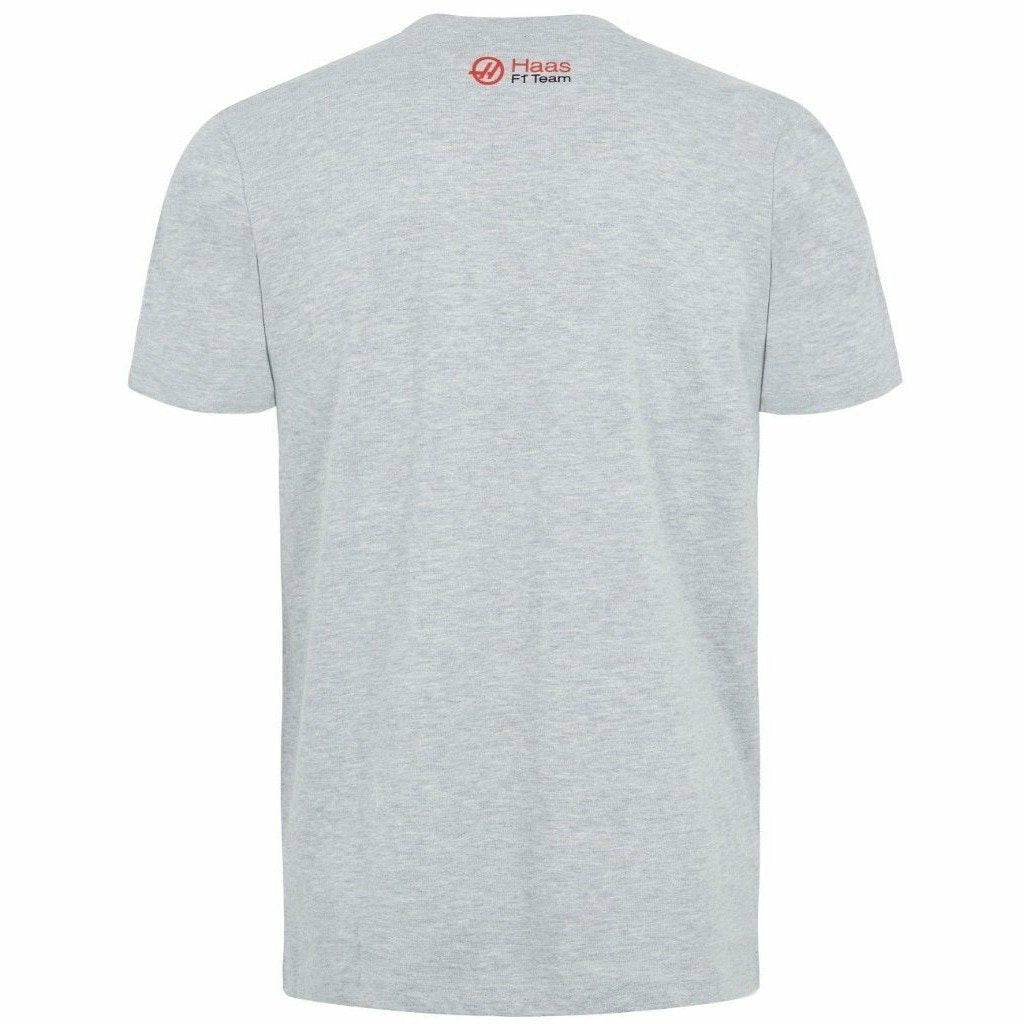 Haas American Team Formula 1 Motorsports Authentic 2018 Gray Logo Shirt