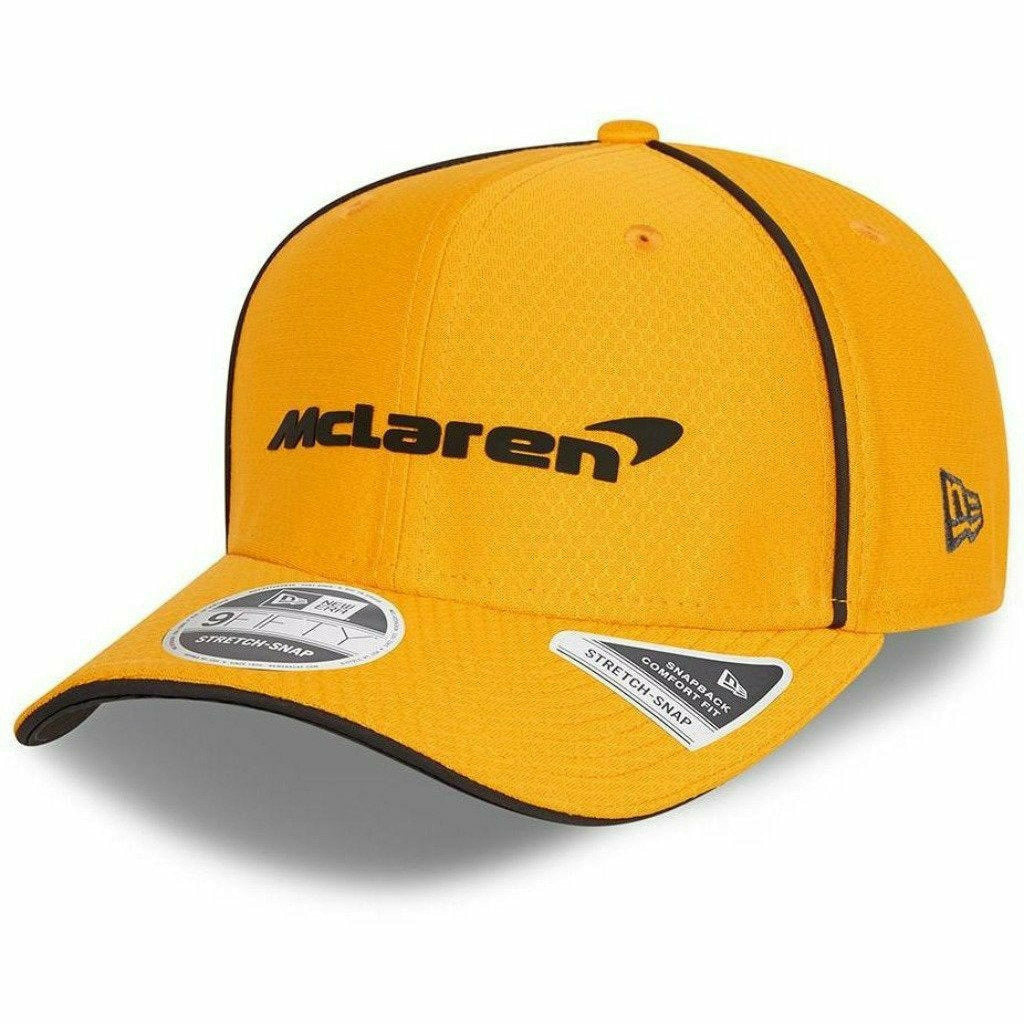 McLaren F1 Kids Team 2021 New Era 9Fifty Baseball Hat - Youth Anthracite/Papaya