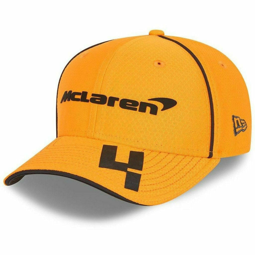 McLaren F1 Kids Lando Norris Team 2021 New Era 9Fifty Baseball Hat - Youth Anthracite/Papaya