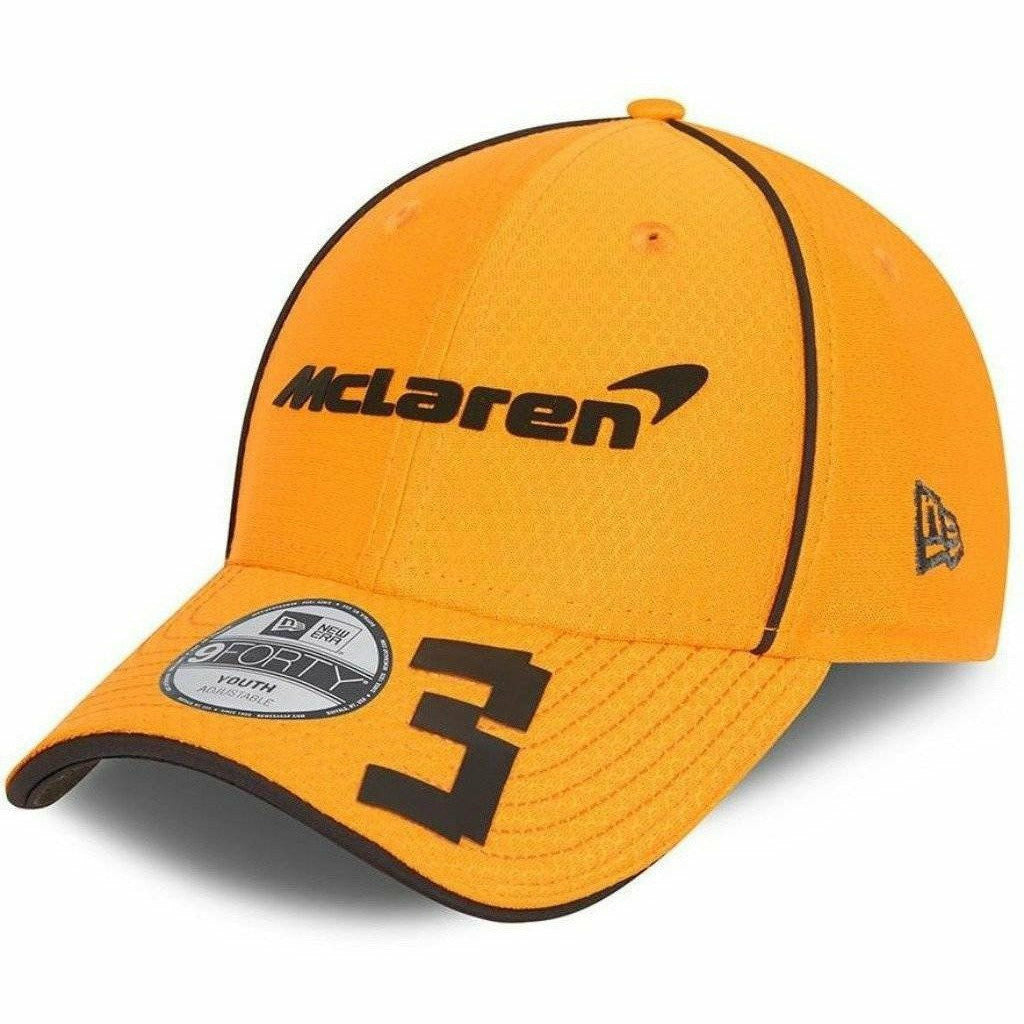 McLaren F1 Kids Daniel Ricciardo Team 2021 New Era 9Forty Baseball Hat - Youth Anthracite/Papaya