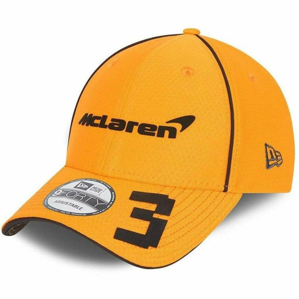 McLaren F1 Daniel Ricciardo Team 2021 New Era 9Forty Baseball Hat - Anthracite/Papaya