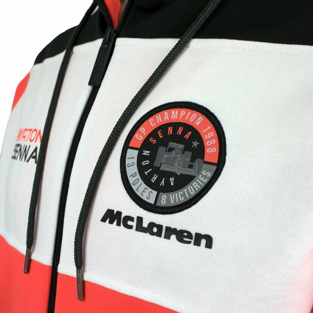 Ayrton Senna Authentic Zip Hoody McLaren World Champion 1988