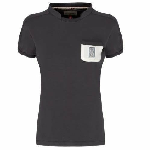 Maserati Women's Grey T-Shirt w/small Pocket