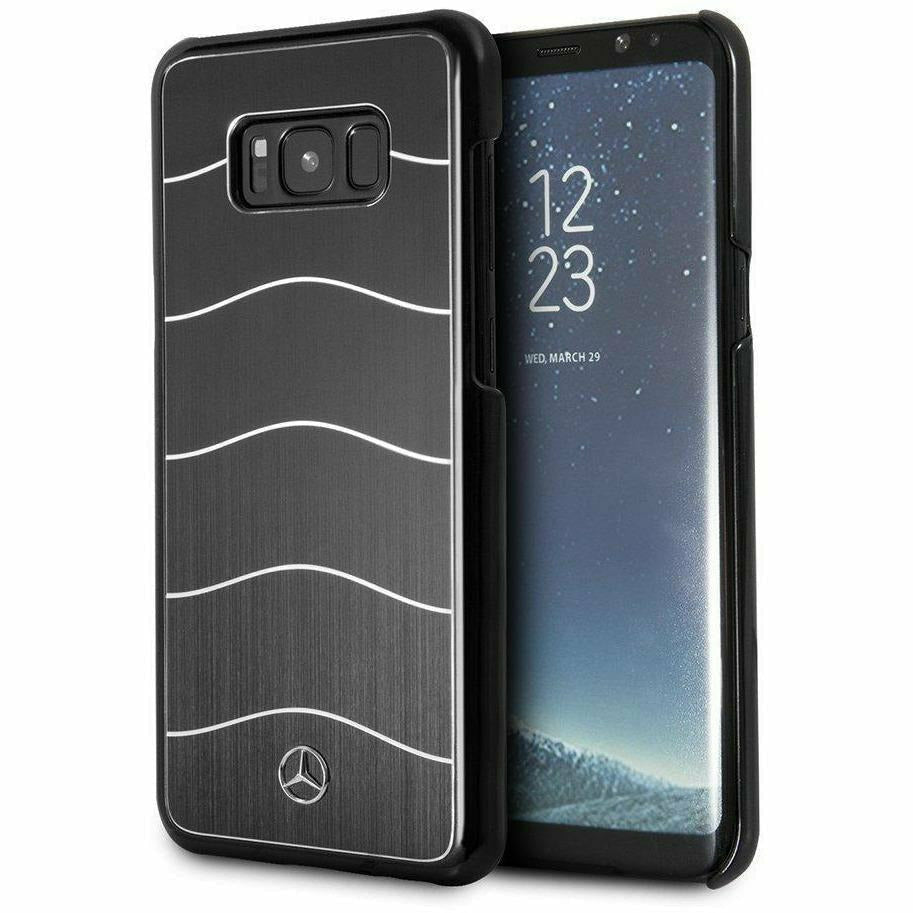 MERCEDES-BENZ REAL BRUSHED ALUMINUM WAVE VIII CASE BLACK - SAMSUNG GALAXY S8+