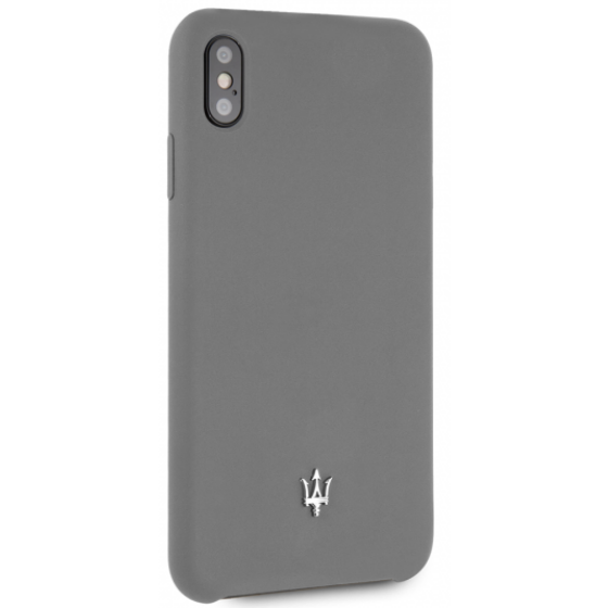 Maserati SILICONE COLLECTION SILICONE – GRAY HARD CASE, iPhone XS Max