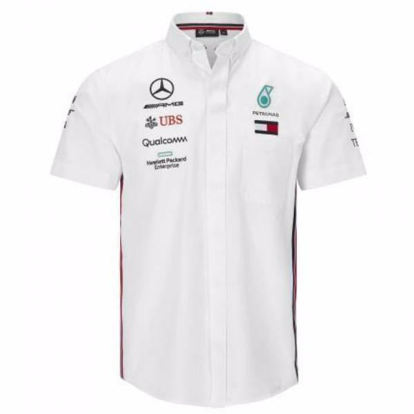 Mercedes Amg Petronas Motorsport Men's 2019 F1 White Team Shirt
