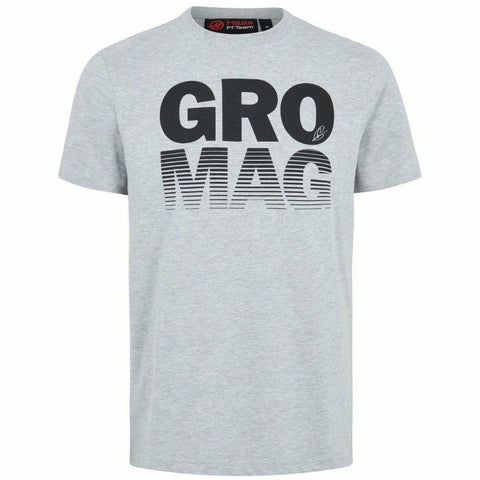 Haas American Team Formula 1 Authentic 2018 Men's Gray Mag/Gro T-Shirt