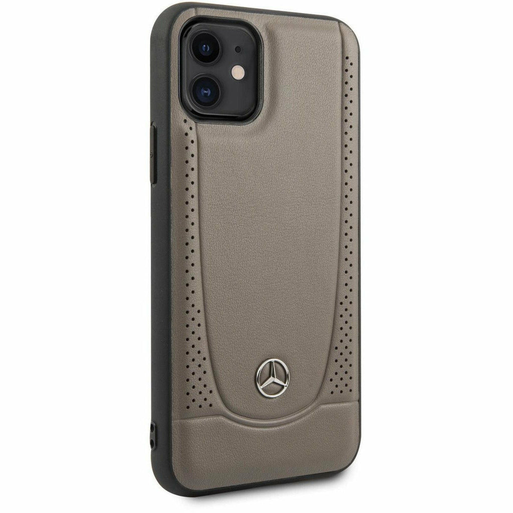 Mercedes-AMG Petronas IPHONE 11 GENUINE BROWN LEATHER HARD CASE