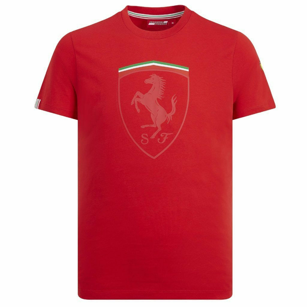 Scuderia Ferrari Men's F1 Red Scudetto T-Shirt