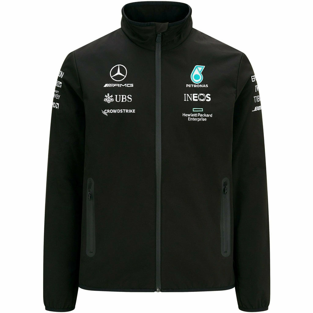Mercedes Benz AMG Petronas F1 Men's 2021 Team Softshell Jacket- Black