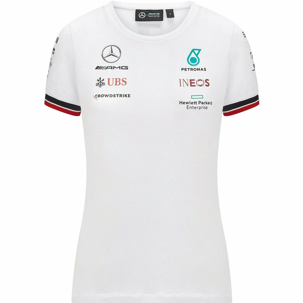 Mercedes Benz AMG Petronas F1 Women's 2021 Team T-Shirt- Black/White