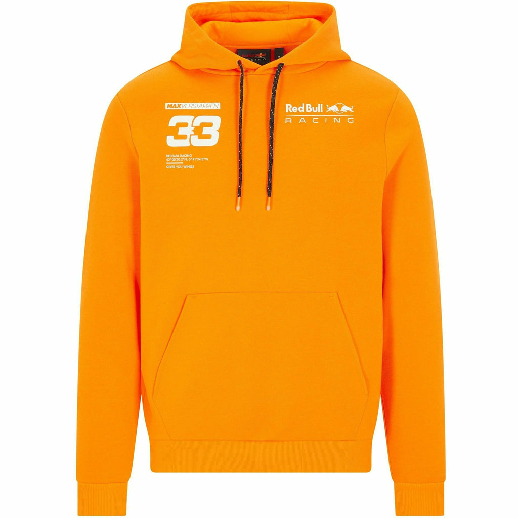 Red Bull Racing F1 Men's Max Verstappen Hooded Sweatshirt - Orange