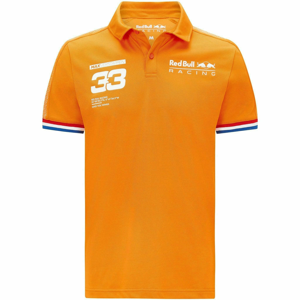 Red Bull Racing F1 Men's Max Verstappen Polo Shirt - Orange
