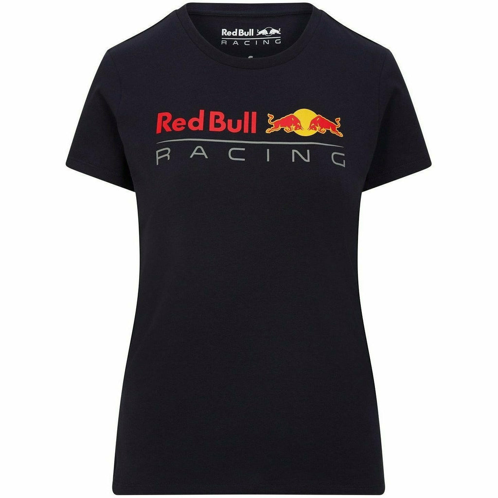 Red Bull Racing F1 Women's Large Logo T-Shirt - Navy/White/Orange