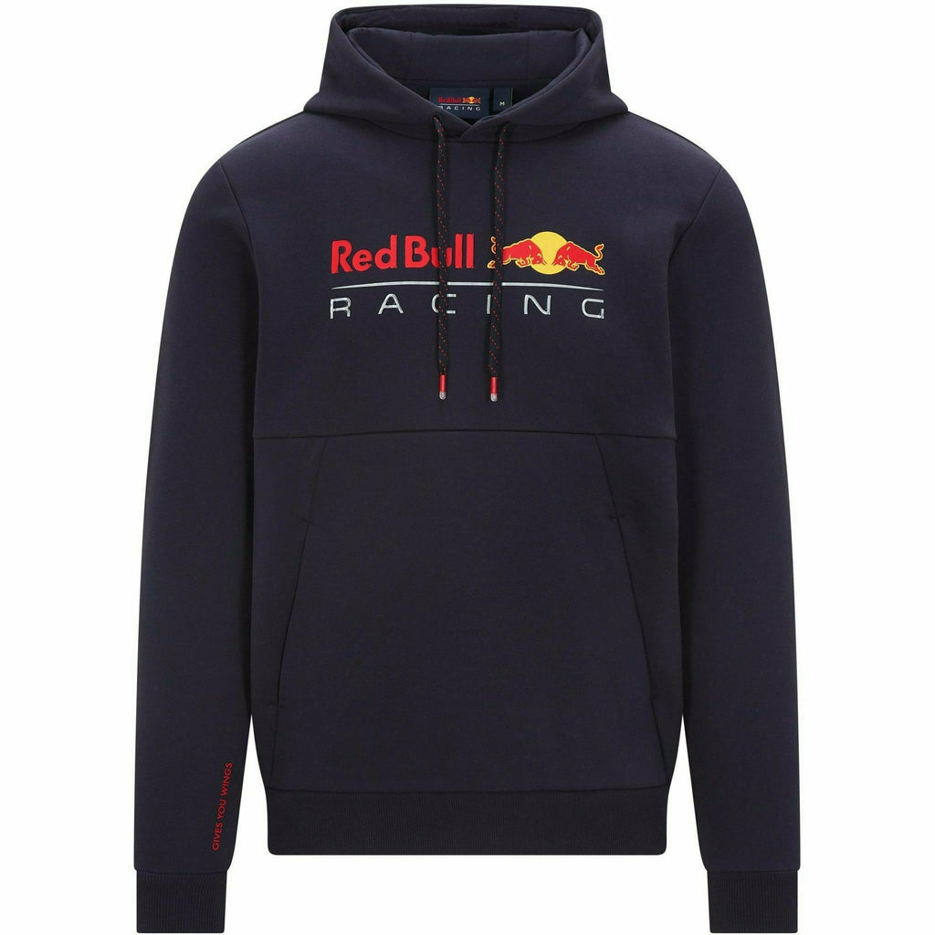 Red Bull Racing F1 Men's Pull Over Hooded Sweatshirt- Navy/Gray