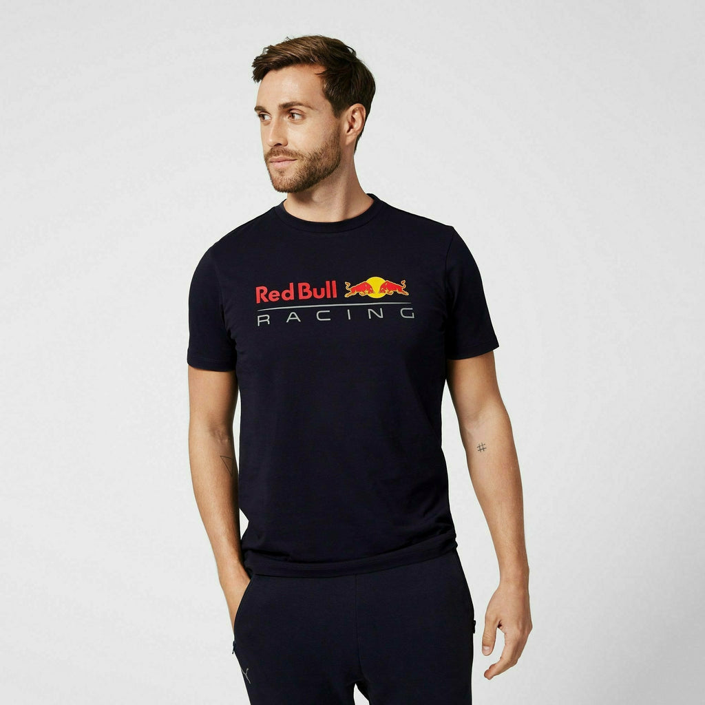 Red Bull Racing F1 Men's Large Logo T-Shirt - Navy/White/Orange
