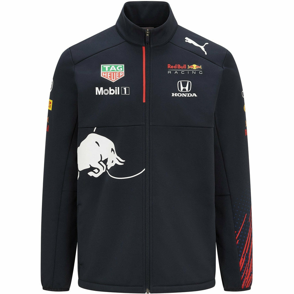 Red Bull Racing F1 Men's 2021 Team Softshell Jacket- Navy