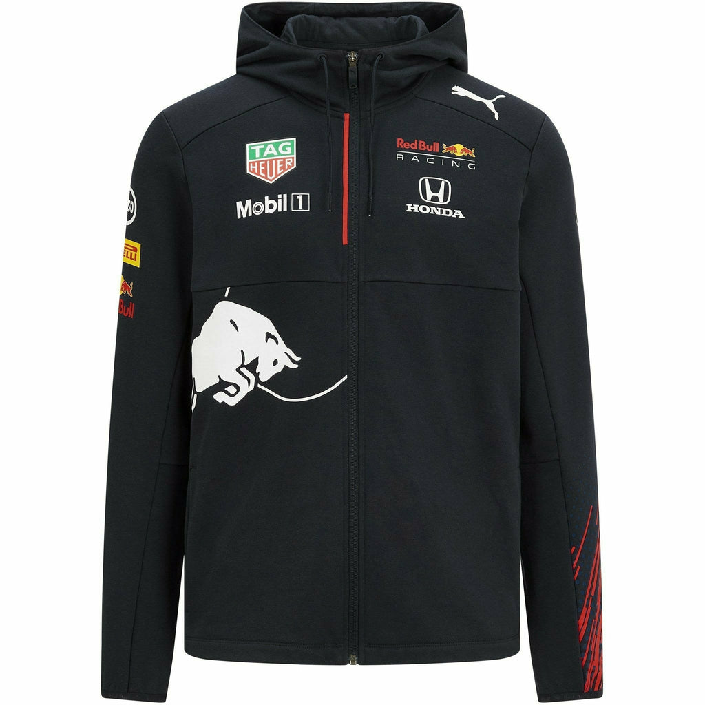 Red Bull Racing F1 Men's 2021 Team Hooded Sweatshirt- Navy
