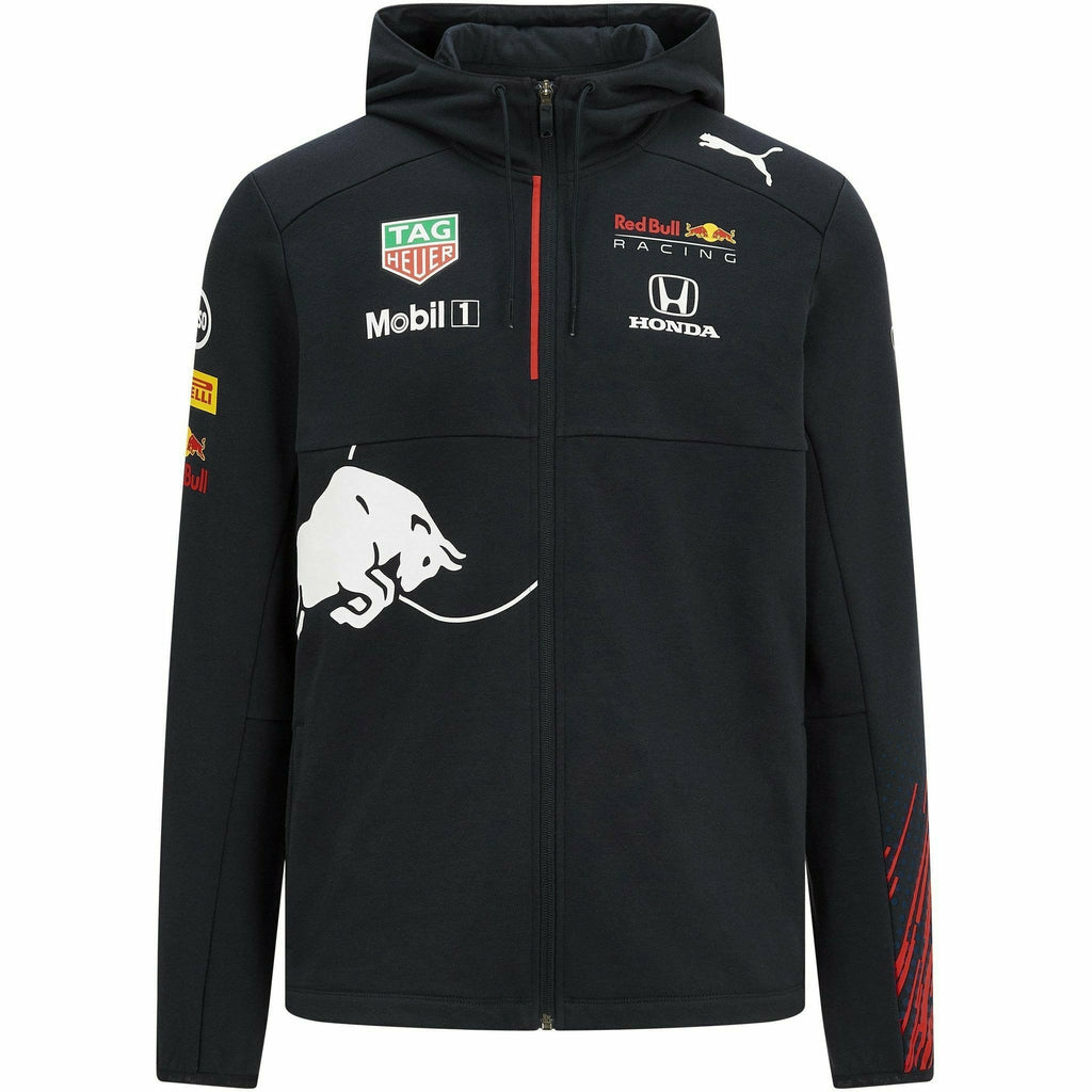 Red Bull Racing F1 Kids 2021 Team Hooded Sweatshirt Jacket- Youth Navy