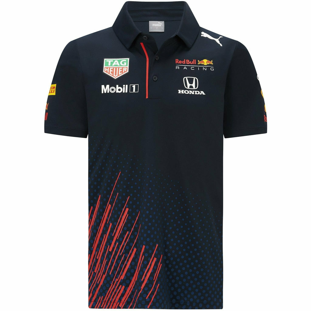 Red Bull Racing F1 Kids 2021 Team Polo Shirt- Youth Navy