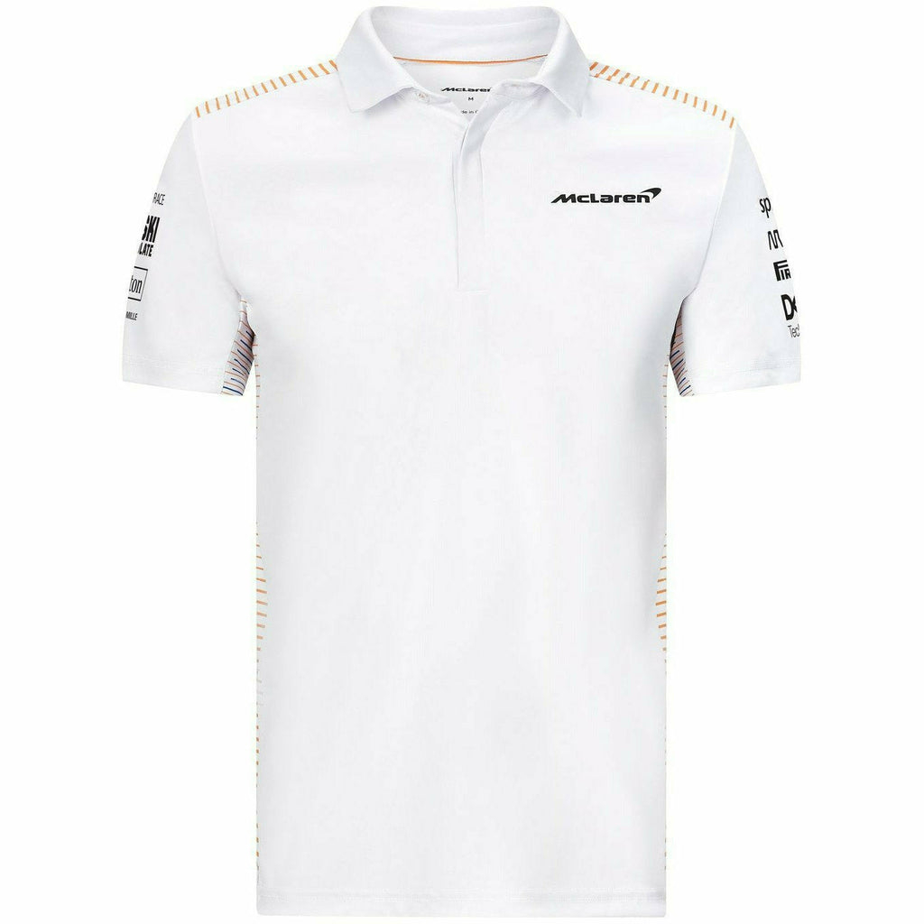 McLaren F1 Men's 2021 Team Polo Shirt- White/Anthracite