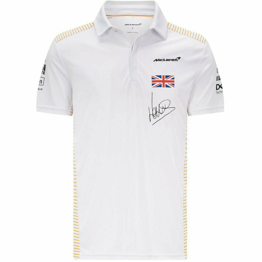 McLaren F1 Men's 2021 Team Lando Norris Polo Shirt - White