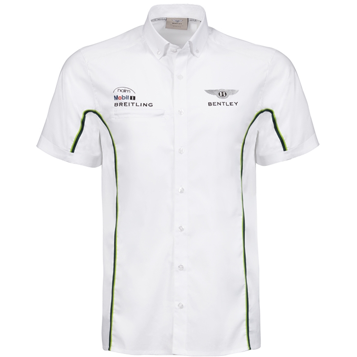 Bentley Motorsport Men's Paddock Shirt White