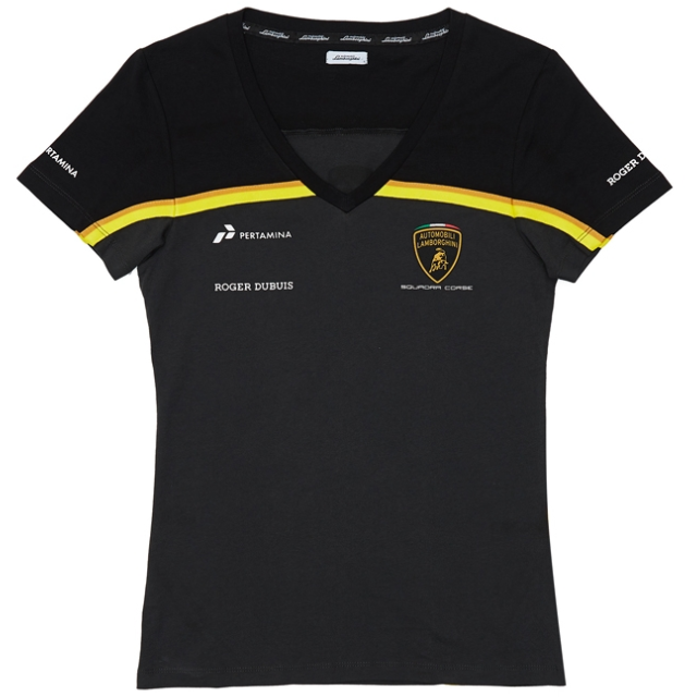 Automobili Lamborghini Gold 2019 Women's Gold Edition V-Neck T-Shirt