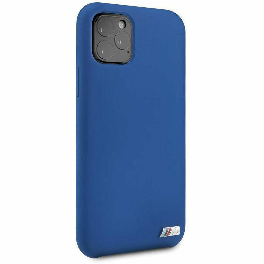 BMW Motorsports PHONE CASE FOR IPHONE 11 PRO MAX BLUE SILICONE CASE WITH SOFT MICROFIBER INTERIOR