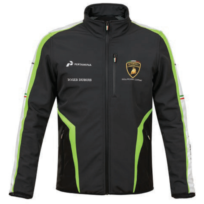 Automobili Lamborghini Squadra Corse 2019 Men's Softshell Jacket Black w/White