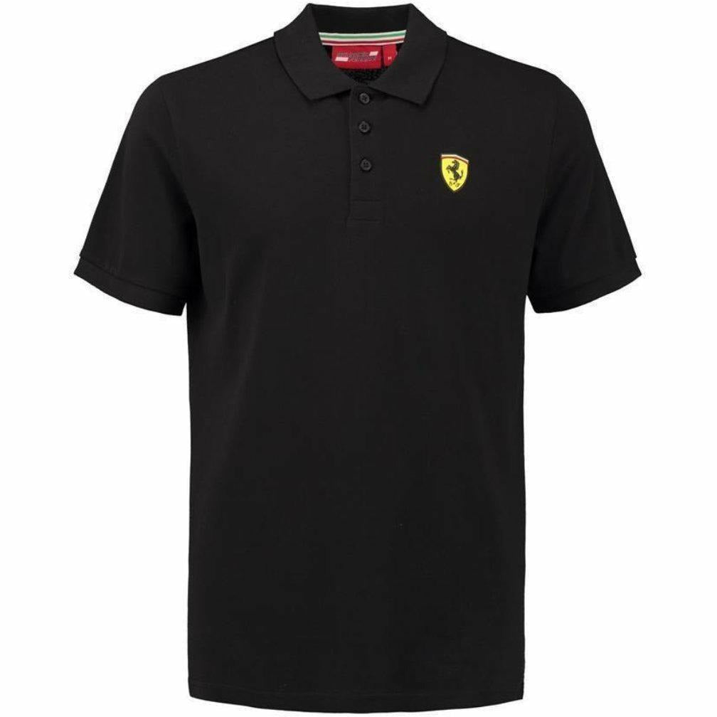 Ferrari Men's Formula 1 2018 Authentic Black Men's Classic Polo