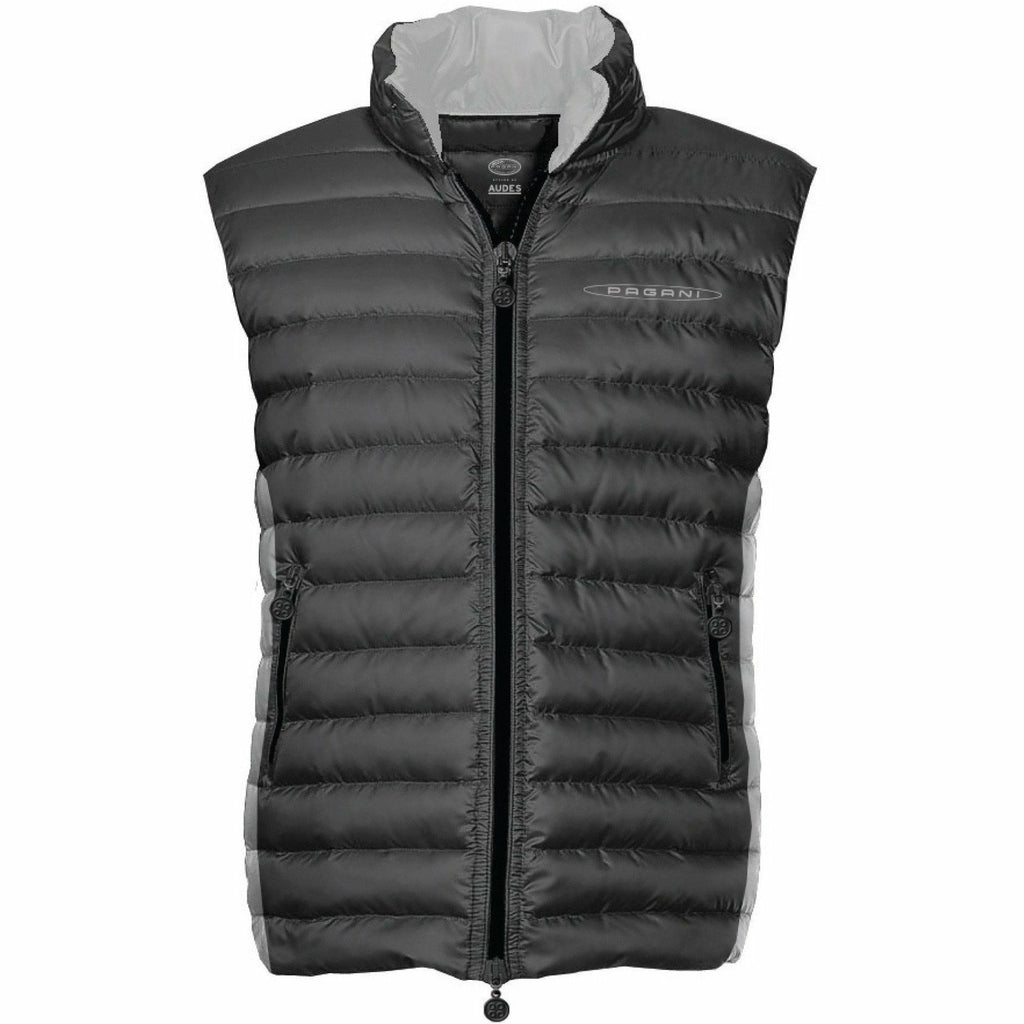 Pagani Automobili Men's Padded Vest Dark Grey