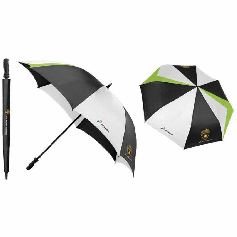Automobili Lamborghini Squadra Corse 2019 Golf Umbrella Black-Lime-White